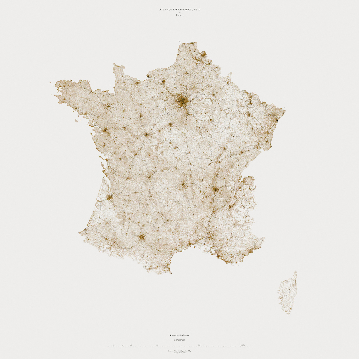 Muriz Djurdjevic and Thomas Paturet, ATLAS OF PLACES. Atlas of Infrastructure I&II. France