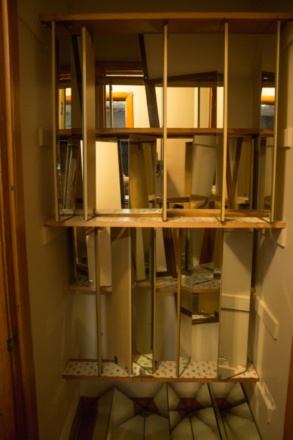 Closet Mirror, French House, Wheaton IL, October 2015. Temporary Site  Specific Installation In College Campus House Set To Be Demolished.
