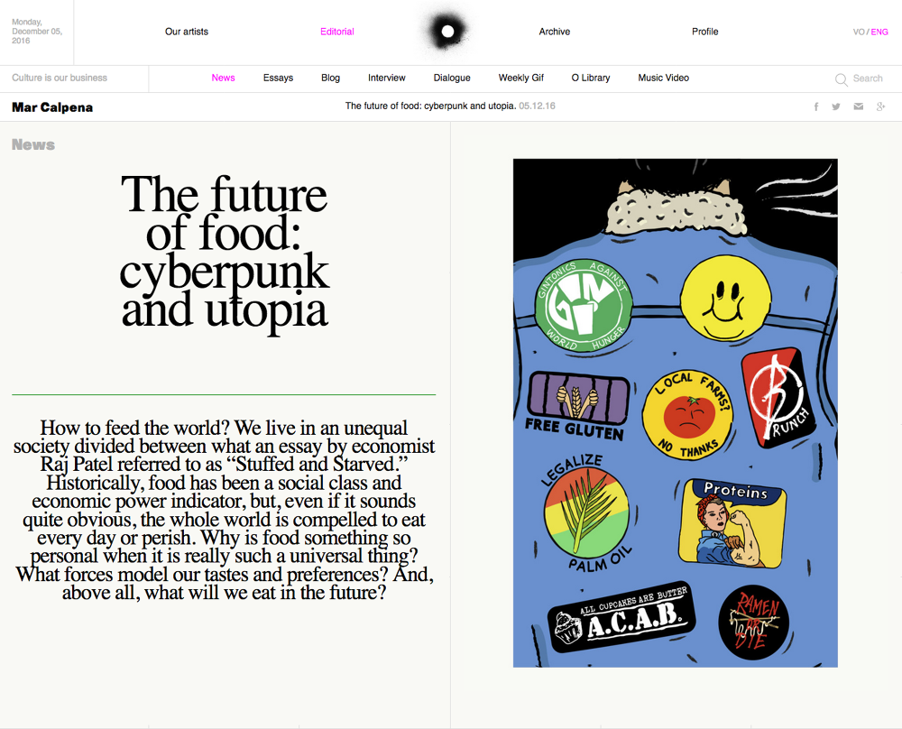 the future of food cyberpunk utopia o editorial luis maz oacute n